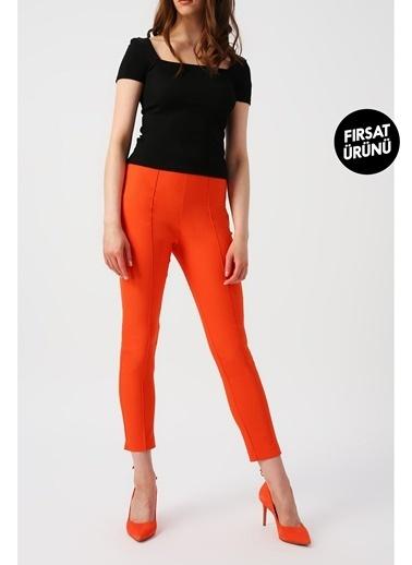 Random Kadın Dar Kesimli Cepsiz Pantolon Renkli